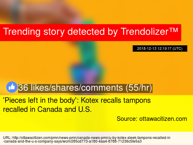 039pieces Left In The Body039 Kotex Recalls Tampons Recalled
