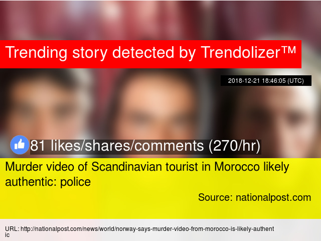 Murder video of Scandinavian tourist in Morocco likely