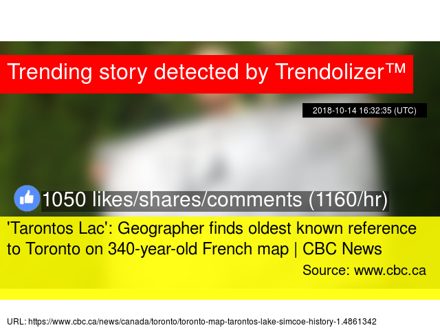 'Tarontos Lac': Geographer finds oldest known reference to on