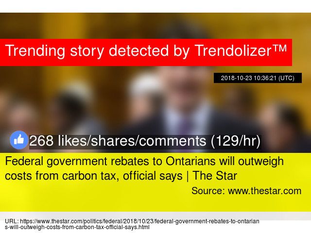 Federal Government Rebates To Ontarians Will Outweigh Costs From Carbon Tax Official Says The Star